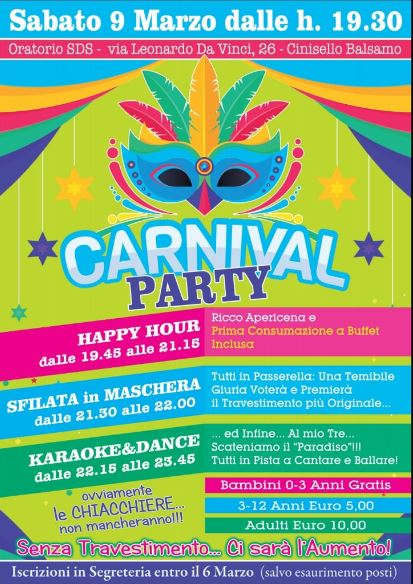 carnevale2019 party sds